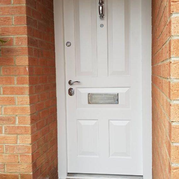 Classic white front doors