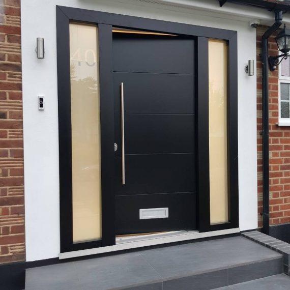 wide modern front doors