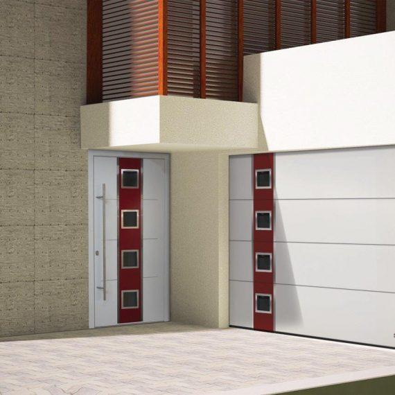 maching garage and front doors