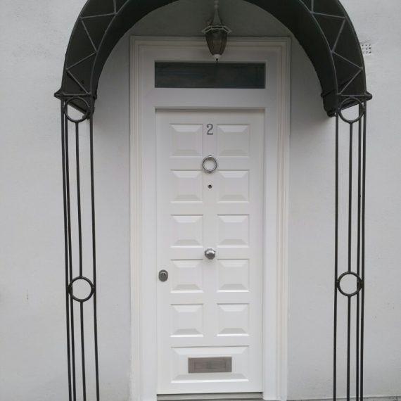 Security doors white