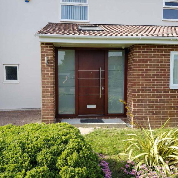 wooden modern front door